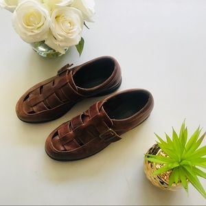 Men's Leather Red Wing Woven Loafers size 8